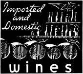 Imported And Domestic Wines — Stock Vector
