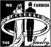 We Furnish The Jewelry — Vector de stock