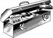 Fishing Tackle Box — Stock Vector
