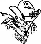 Rugged Cowboy — Stock Vector