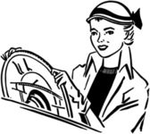 Lady Driver — Stock Vector