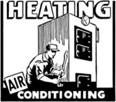 Heating Air Conditioning — Vetorial Stock