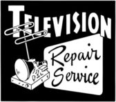 Television Repair Service — Stock Vector