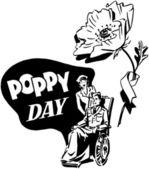 Poppy Day — Stock Vector