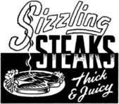Sizzling Steaks — Stock Vector