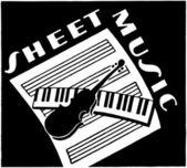 Sheet Music — Stock Vector