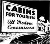 Cabins For Tourists — Stock Vector