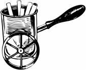 Wheeled Cigarette Holder — Stock Vector