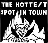 The Hottest Spot In Town — Stock Vector