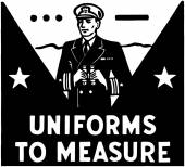 Uniforms To Measure — Stock Vector