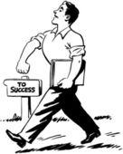 Walking Proud — Stok Vektör