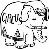 Circus Elephant — Stock Vector