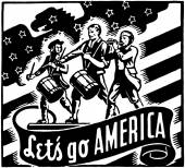 Let's Go America — Stock Vector
