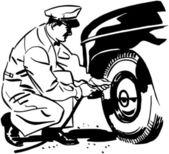 Tires Under Pressure — Stock Vector