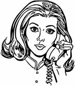 Phone Gal — Stock Vector