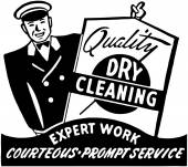 Quality Dry Cleaning — Vettoriale Stock