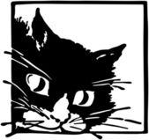 Peeking Kittycat — Vector de stock