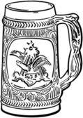 Beer Stein — Stock Vector