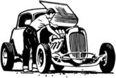 Hotrod Repair — Stock Vector
