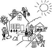Home Improvement — Stock Vector