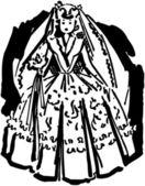磁器の花嫁 — ストックベクタ