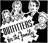 Outfitters voor het gezin — Stockvector