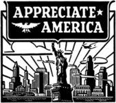 Appreciate America — Stock Vector
