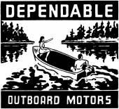Dependable Outboard Motors — Stock Vector