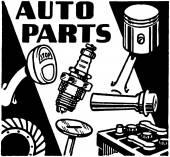 Auto Parts — Stock Vector