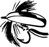 Pesca con mosca — Vector de stock