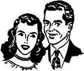 Lovely Couple — Stock Vector