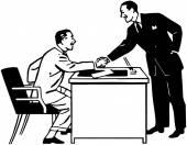 Business Transaction — Stock Vector