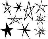 复古星星 — 图库矢量图片