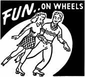 Fun On Wheels — Vettoriale Stock