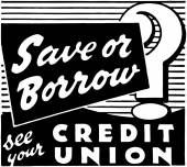 Save Or Borrow? — Vector de stock