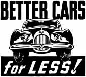 Better Cars For Less — Stock Vector