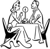 Dining Couple — Stock Vector