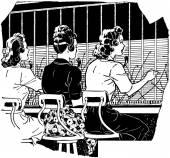 Switchboard Operators — Stock Vector