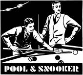 Pool And Snooker — Stock Vector
