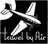 Travel By Air — Stock Vector