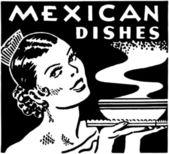 Mexican Dishes — Vector de stock