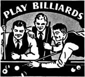 Play Billiards — Stock Vector