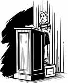 Boy On Podium — Stock Vector