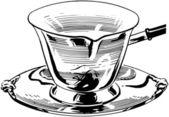 Silver Milk Ladle — Stock Vector