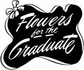 Flowers For The Graduate — ストックベクタ
