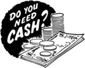Do You Need Cash? — Stockvector
