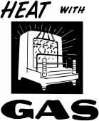 Heat With Gas — Vetorial Stock