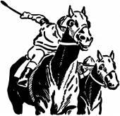 Race Horses — Stock Vector
