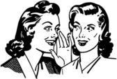 Gossiping Women — Stock Vector
