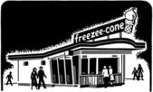 Ice Cream Shop — Stock Vector